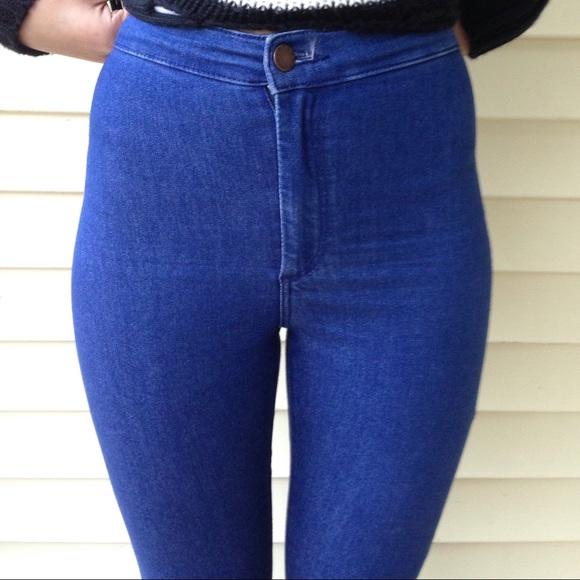 50% off Topshop Denim - Topshop medium wash high waisted jeans
