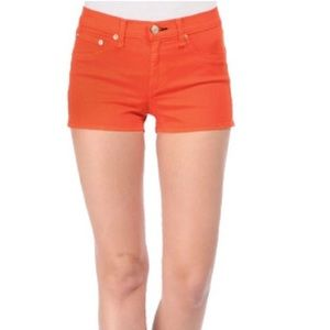 [rag & bone orange biba shorts]