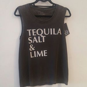 Chaser  tequila salt and lime washed black top