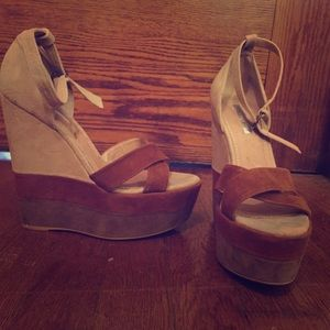 H by Halston suede wedges