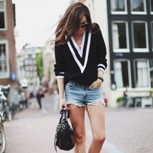 Preppy Boyfriend Varsity Sweater