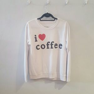 Chaser i love coffee sweatshirt