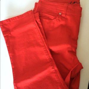 INC skinny leg regular fit crop pants