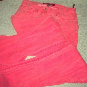 Red Linen French Connection Pants Size 0