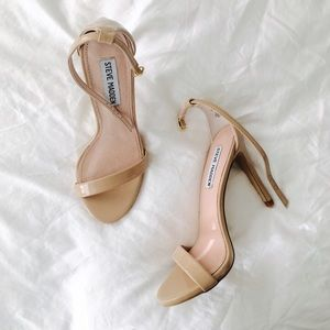 Steve Madden Shoes - Steve Madden Patent Nude Strappy Sandals