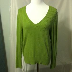 Old navy green cable knit sweater