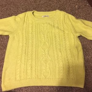 Neon lime green knit sweater
