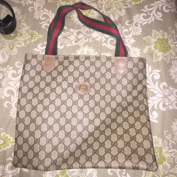 0af1554800003c Gucci Bags | Tote With Green And Red Shoulder Strap | Poshmark