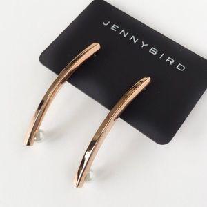 Jenny Bird Jewelry - Jenny Bird Rose Gold Maigret Stick Earrings.