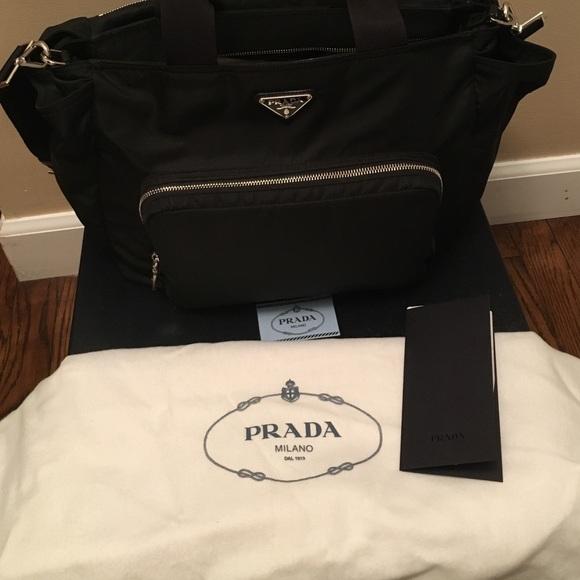 1711b3e5509b20 M_56e8c9642ba50aed82029be3. Other Bags you may like. Authentic Prada nylon  diaper bag
