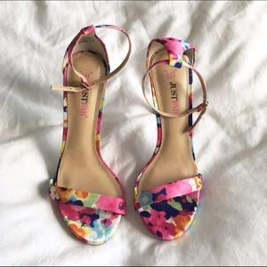 144c9330a267 JustFab Shoes - Floral print strappy sandals