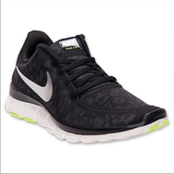 ALL SIZES! Nike Free 5.0 V4 Cheetah Leopard Print White