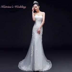 Mermaids lace wedding dress with beading
