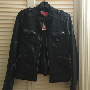 Jackets & Blazers - Black motorcycle jacket - faux leather