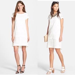 High/Low Lace Shift Dress
