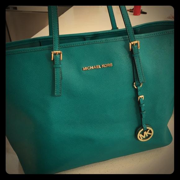 8ea7e68b15fbad Michael Kors Bags | Turquoise Authentic Mk Bagbundle | Poshmark