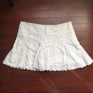 Aqua White Eyelet Skirt