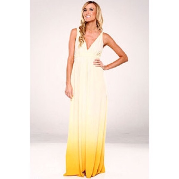 91% off Gypsy 05 Dresses & Skirts - Gypsy 05 Ombré Organic Maxi ...