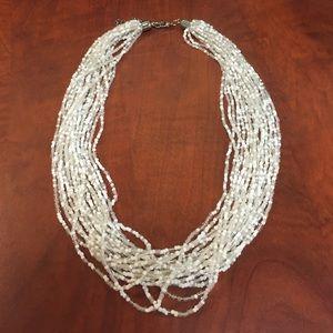 "Jewelry - SALE‼️ White 20"" multi-bead necklace"