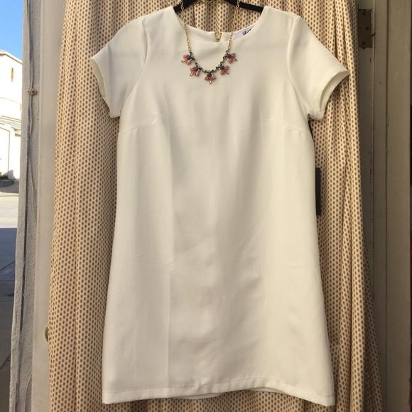 1b7c42c480fab Lulu s Shift and Shout Shift Dress in Ivory NWT