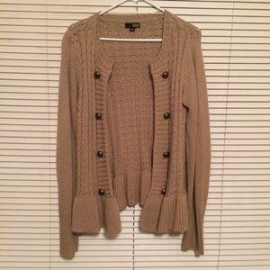 Tan Sweater Cardigan