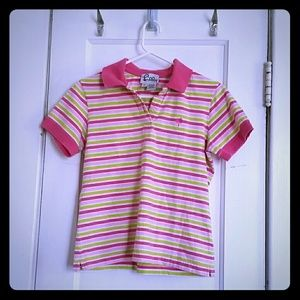 LILLY PULITZER sz M striped polo shirt