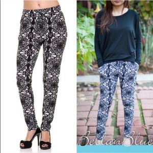The ROSALEE print jogger pants - BLACK