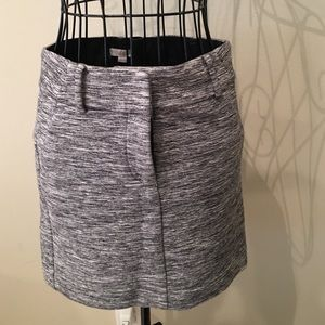 New Ann Taylor LOFT Grey Mini Skirt 00 Petite
