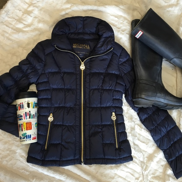 4d4a28e6a9a0 Michael Kors XS Navy Down Jacket Coat Packable. M 56f033bb4e8d177bc4002cb3