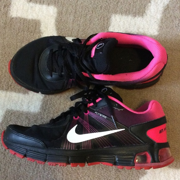 nike air max fly wire pink/black