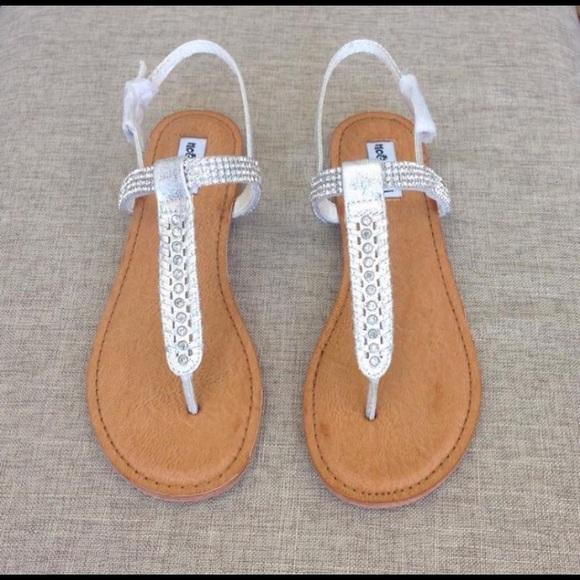 95fc98981 Silver bling flat sandal BRAND NEW