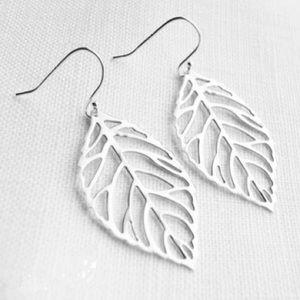 Jewelry - Silver Leaf 🍃 Earrings