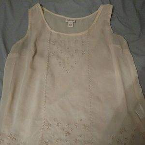 Mossimo Supply Co. Tops - Embroidered See Through Top