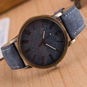 Accessories - Blue Denim Fashion Wrist Watch⏱