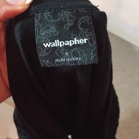 Wallpapher Tops - Wallpaper heavy lace sweatshirt sweater SOLD