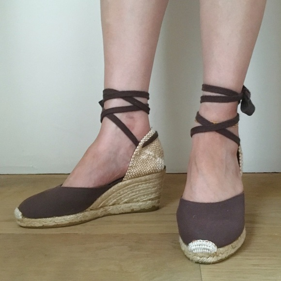 High Heel Canvas Shoes