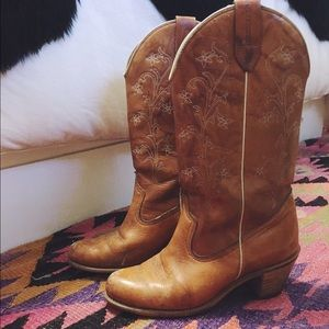 Vintage Wolverine Cowboy Boots