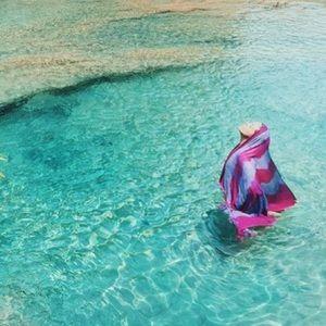 Ketzali Caribbean Scarf -Wrap- Sarong w fringe