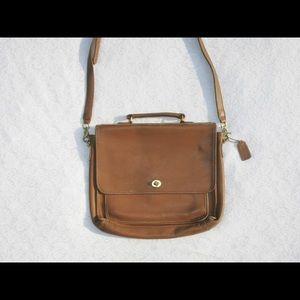 Vintage Brown Coach Briefcase Bag