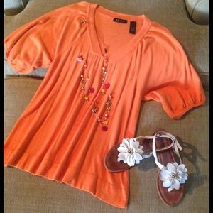 Axcess Tops - Orange Top by Axcess Sz Lg