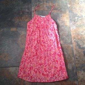 Zara Dresses & Skirts - Zara Basic Pink Orange Floral Sun Dress