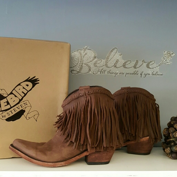 48% off Steve Madden Shoes - Freebird Howdy ▪ brown fringe ankle ...