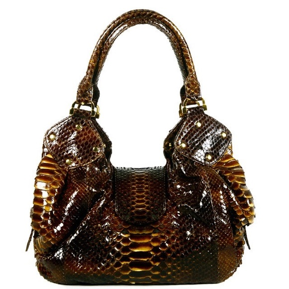 64 off bobby schandra handbags one of a kind designer python purse from jacqueline 39 s closet. Black Bedroom Furniture Sets. Home Design Ideas