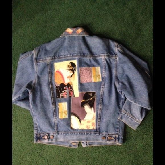 Jackets Coats Artsy Asian Decor Jean Jacket Poshmark