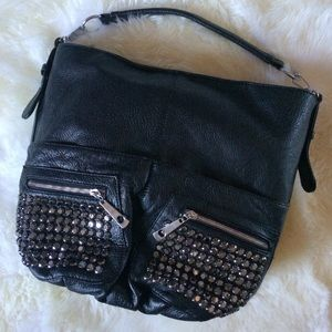 ASOS Handbags - 🎉HOST PICK🎉Black studded edgy rocker chic bag