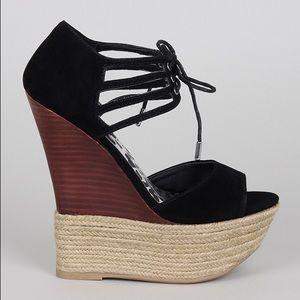 Dollhouse Shoes - Dollhouse Hotstuff Black Wedges