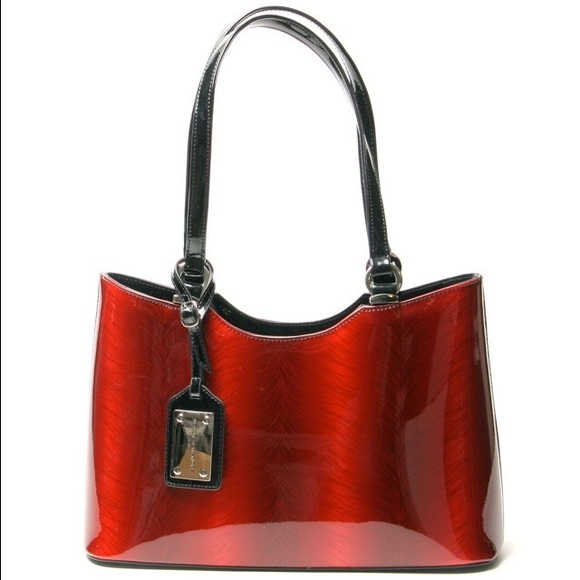 6995d7b7441f Designer Patent Leather Purse NWT