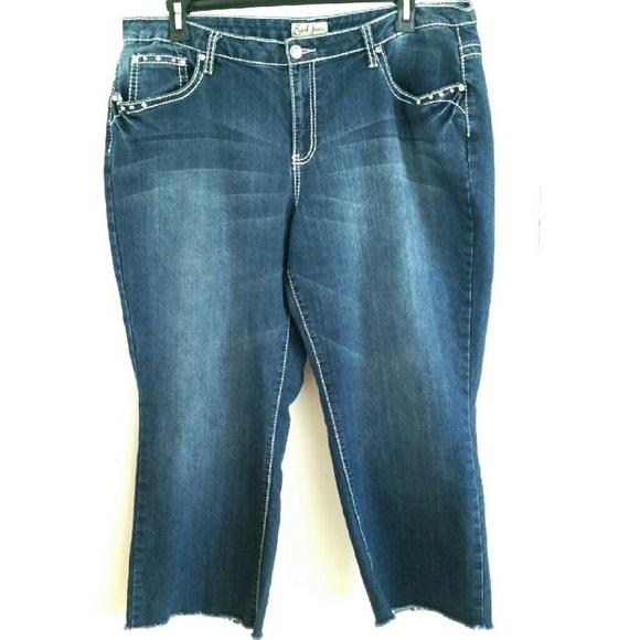 27e8c033fb0 Earl Jean Denim - Earl Jean 20W Cutoff Crops - Plus Size Jeans