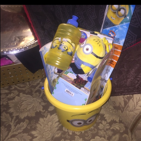 Minion birthday holiday gift basket updated +items