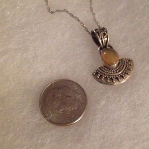 Jewelry - Moonstone Sterling Silver Fan Necklace